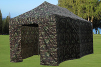 Camouflage 10'x20' Pop up Tent with 6 Sidewalls - E Model