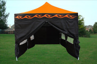 Orange Flame 10'x20' Pop up Tent with 6 Sidewalls - E Model