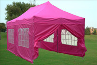 Pink 10'x20' Pop up Tent with 6 Sidewalls - E Model