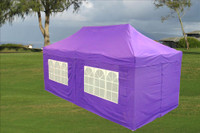 Purple 10'x20' Pop up Tent with 6 Sidewalls - E Model