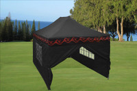 Black Flame 10'x15' Pop up Tent with 4 Sidewalls - E Model