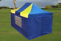 Blue Yellow 10'x15' Pop up Tent with 4 Sidewalls E - Model