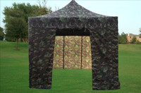 Camouflage 10'x15' Pop up Tent with 4 Sidewalls - E Model
