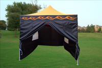 Orange Flame 10'x15' Pop up Tent with 4 Sidewalls - E Model