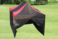 Black Red 10'x15' Pop up Tent with 4 Sidewalls - E Model