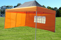 Black Orange 10'x15' Pop up Tent with 4 Sidewalls - E Model