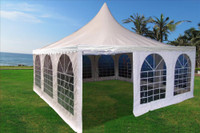 Pagoda PVC Tent 20'x20' - Heavy Duty Wedding Party Tent Canopy - White