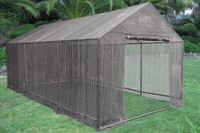 Greenhouse 20'x10' Triangle w Sun Shade Cover