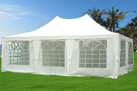 Poly Party Tent 23'x16.5' White - Heavy Duty Party Wedding Canopy