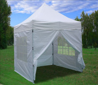 8'x8' White Basic - Pop up Tent