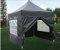 8'x8' Black Basic - Pop up Tent