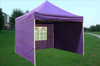 Purple  10'x10' Pop up Tent with 4 Sidewalls - F Model Upgraded Frame