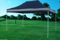 Black Checker 10'x15' Pop up Tent with 4 Sidewalls - F Model  New Frame