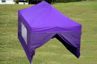 Purple 10'x15' Pop up Tent with 4 Sidewalls - F Model Upgraded Frame