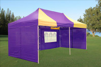 Purple Yellow 10'x20' Pop up Tent with 6 Sidewalls - E Model