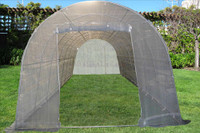 Greenhouse 26'x12' w Sun Shade Cover - Walk In Nursery