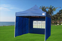 Navy Blue 10'x10' Pop up Tent with 4 Sidewalls - E Model