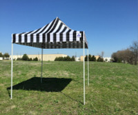 8'x8' Black Stripe Basic - Pop up Tent
