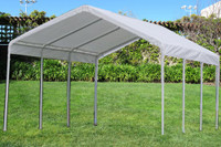 PE Carport Shelter 18'x20' White