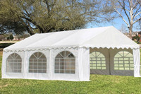 PVC Party Tent 20'x16' - Heavy Duty Party Wedding Tent Canopy - White