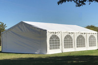 Budget PE Wedding Party Tent Canopy Shelter - 20'x20', 26'x20', 32'x20', 40'x20'