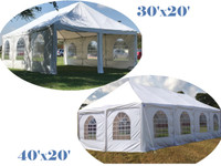 Frame PVC Tent Wedding Party Canopy Shelter White - Storage Bags Included - 30'x20', 40'x20'