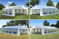 Budget PVC Wedding Party Tent Canopy Shelter White - 20'x20', 26'x20', 32'x20', 40'x20'