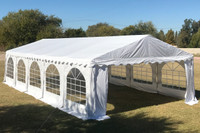 32'x16' PVC Party Tent (FR) Wedding Canopy Shelter -  Fire Retardant - White