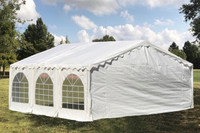 Budget PE Wedding Party Tent Canopy Shelter with Waterproof Top - 20'x16', 26'x16', 32'x16', 40'x16'