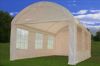 PE Party Tent 20'x10' (Dome) - Heavy Duty Carport Canopy - White