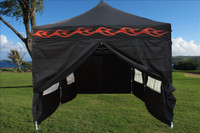 Black Flame 10'x20' Pop up Tent with 6 Sidewalls - E Model