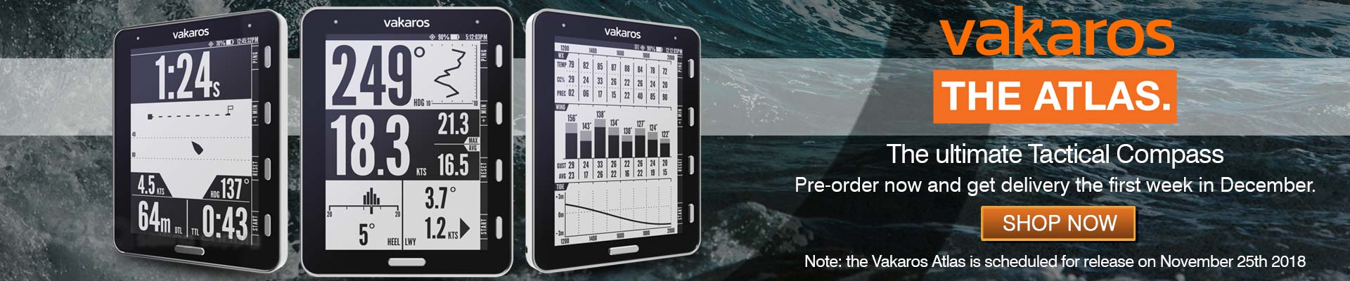 Vakaros Wireless Tactical Sailing Compass