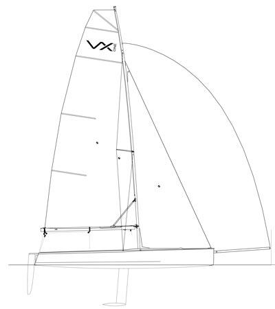 VX One Sailboat Plan Side