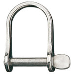 Ronstan Shackle, Wide Dee, Pin 1/4in, L:39mm, W:30mm