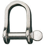 "Ronstan Shackle, Standard Dee, Pin 1/4"", L:22mm, W:14mm"