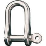 "Ronstan Shackle, Standard Dee, 1/4"" Pin With Seizing Hole"