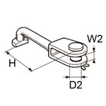 Selden T-Ball /  Toggle dia. 5 T/ FRodkicker Assembly