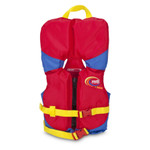 MTI Lifejacket Infant's w/Collar, Red/Blue, (0-30 lb)