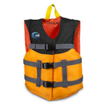 MTI Lifejacket Youth Livery, Mango/Black, (50-90 lb)