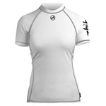 Zhik Women's Spandex Top Short Sleeve Crisp White