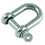 Allen Brothers 6mm Stainless Steel Forged D Shackle