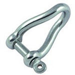 Allen Brothers 8mm Stainless Steel Forged Twisted Shackle