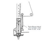 "CDI FF7 Tack Down Haul Line 5/32"" x 12'"