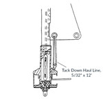 "CDI FF9 Tack Down Haul Line, 5/32"" x 12'"