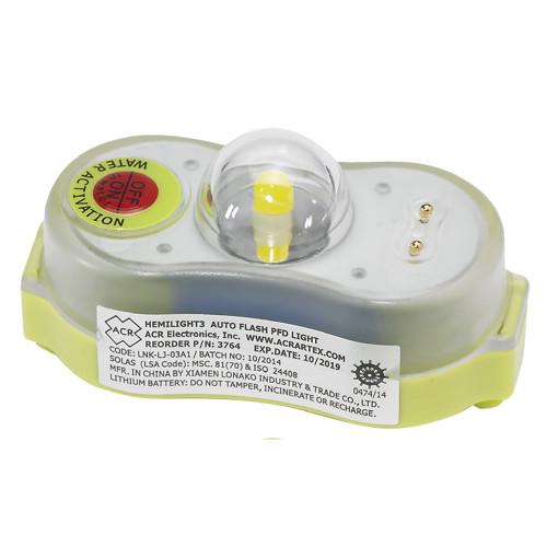 ACR HEMILIGHT䋢 3 - AUTOMATIC SURVIVOR LOCATOR LIGHT