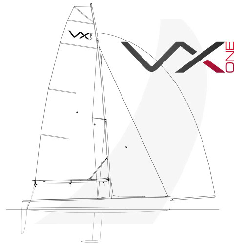 VX One Design Sailboat Side View