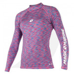 Magic Marine Women Cube Rashvest Long Sleeve Blue/Pink  15001.180043