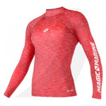 Magic Marine Women Cube Rashvest Long Sleeve Pink  15001.180043
