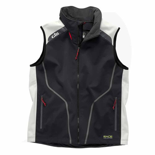 Gill Race Softshell Vest Graphite/Silver RC018