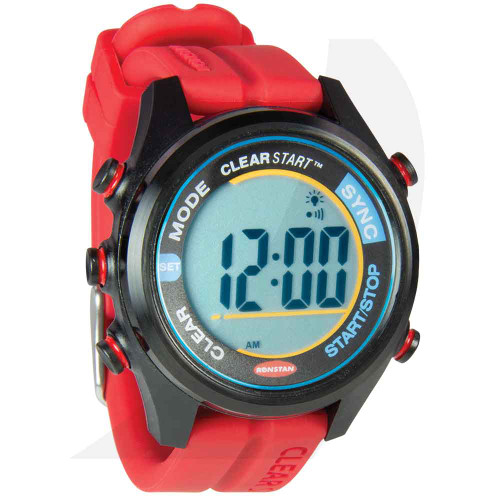 Ronstan 40mm ClearStart Sailing Watch Red RF4054 Side View
